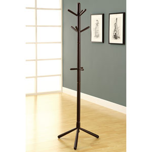 Coat Rack - 69H / Cappuccino Wood Contemporary Style