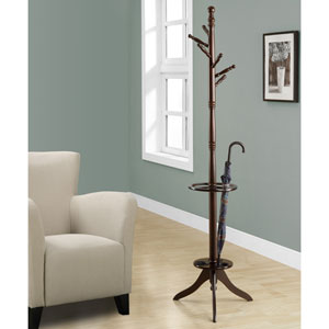 Coat Rack - 71H / Dark Cherry with an Umbrella Holder
