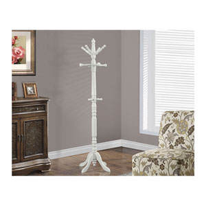 Antique White Coat Rack