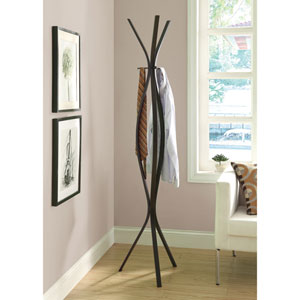 Coat Rack - 72H / Cappuccino Metal Contemporary Style