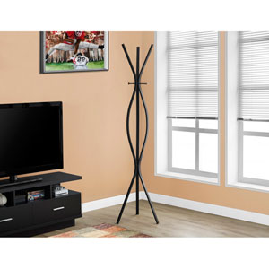 Coat Rack - 72H / Black Metal Contemporary Style