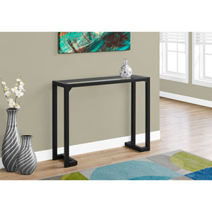 Accent Table - 42L / Black / Tempered Glass Hall Console