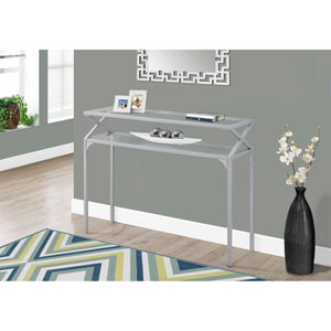 Accent Table - Silver Metal Hall Console