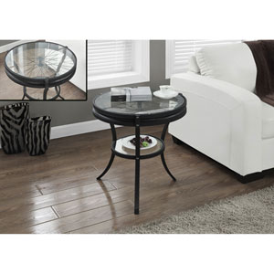Black 20-Inch Accent Table