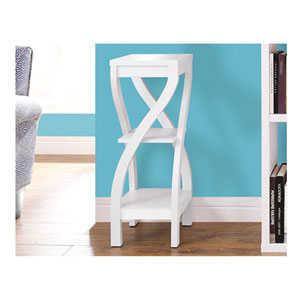 White 32-Inch Plant Stand