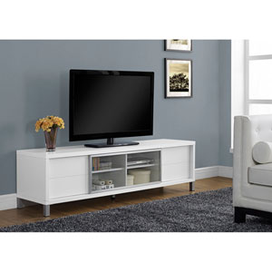 White 70-Inch TV Console