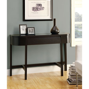 Accent Table - 48L / Cappuccino with a Storage Drawer