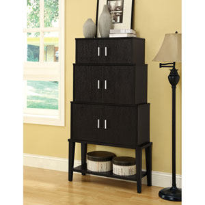 Storage Cabinet - 55H / Cappuccino Stacking Style