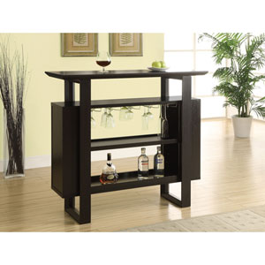 Home Bar - 48L / Cappuccino with Bottle / Glass Storage