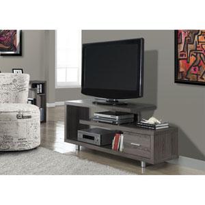 Dark Taupe 60-Inch TV Console