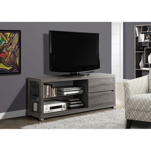 Dark Taupe 60-Inch TV Console