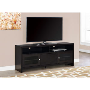 TV Stand - 60L / Cappuccino with Glass Doors