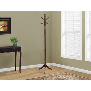 Coat Rack - 72H / Cherry Solid Wood Traditional Style