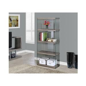 Dark Taupe 60-Inch Bookcase