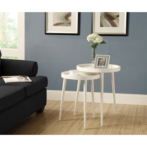 Nesting Table - 2 Piece Set / White