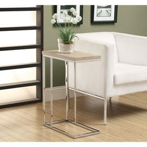 Accent Table - Natural with Chrome Metal