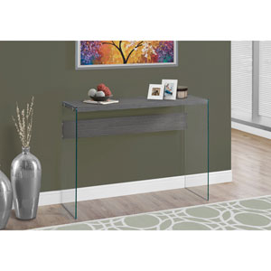 Console Table - Grey with Tempered Glass