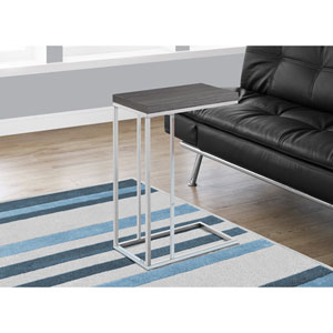 Accent Table - Grey with Chrome Metal