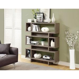 Bookcase - 55H / Dark Taupe Modern Style