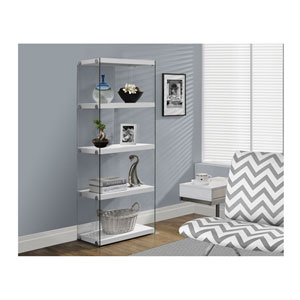 White 60-Inch Bookcase