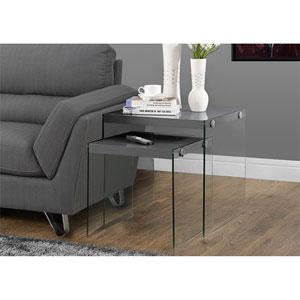 Grey 2 Piece Nesting Table Set