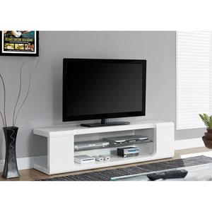 White 60-Inch TV Console