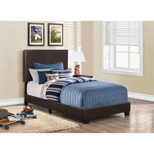 Dark Brown Twin Size Bed