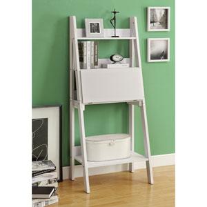 Computer Desk - 61H / White Ladder Style