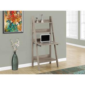 Computer Desk - 61H / Dark Taupe Ladder Style