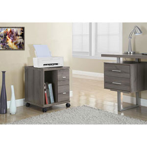 Dark Taupe Computer Stand on Castors