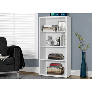 White 48-Inch Bookcase