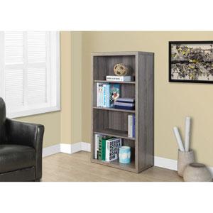 Dark Taupe 48-Inch Bookcase