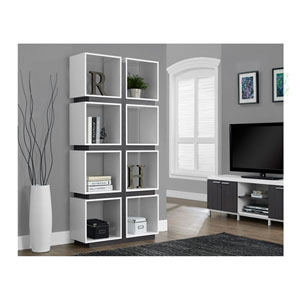 White 71-Inch Bookcase