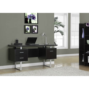 Cappuccino 60-Inch Office Desk
