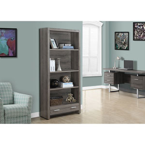 Dark Taupe 71-Inch Bookcase