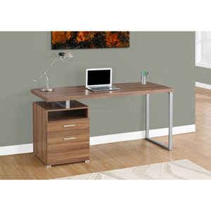 Walnut 60-Inch Computer Desk