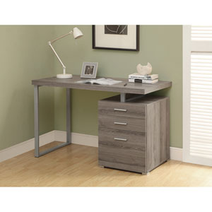 Computer Desk - 48L / Dark Taupe Left or Right Facing