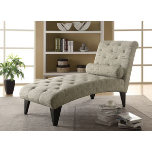 Chaise Lounger Vintage French Fabric