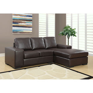 Dark Brown Sofa Lounger