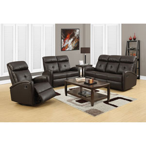 Reclining-Loveseat Dark Brown Bonded Leather