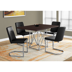 Cappucino Dining Table with Chrome Metal