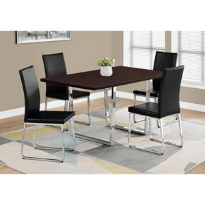 Cappuccino Dining Table with Chrome Metal