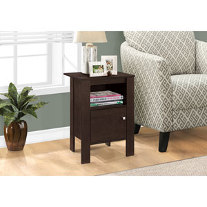 Cappuccino Night Stand with Storage