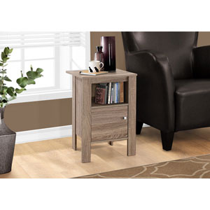 Dark Taupe Night Stand with Storage
