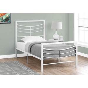 Twin Bed White Metal Frame Only