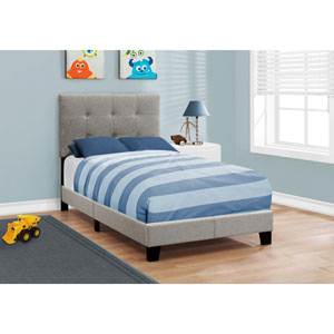 Grey Linen Twin Size Bed