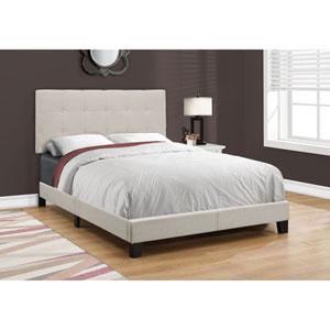 Beige Linen Full Size Bed