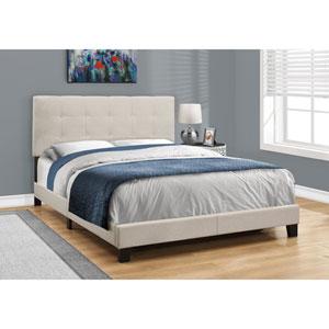 Beige Linen Queen Size Bed
