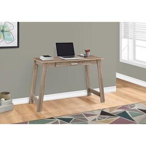 Dark Taupe 42-Inch Computer Desk with A Storage Drawer