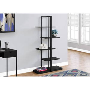 Black 60-Inch Bookcase